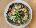 Roasted Sunchoke and Pesto Pizza
