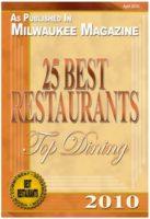 Milwaukee Magazine 25 Best Restaurants